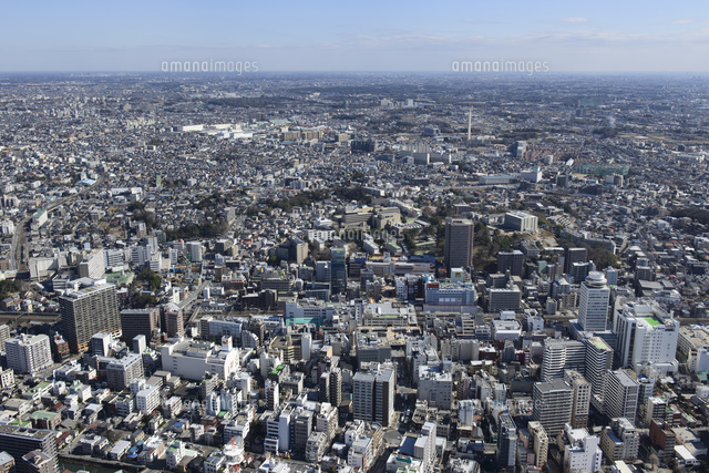 松戸駅空撮 北西より東松戸駅