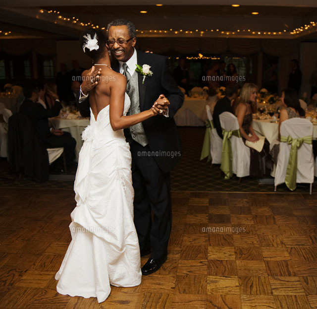 African Bride And Father Dancing At Wedding Reception11018033525